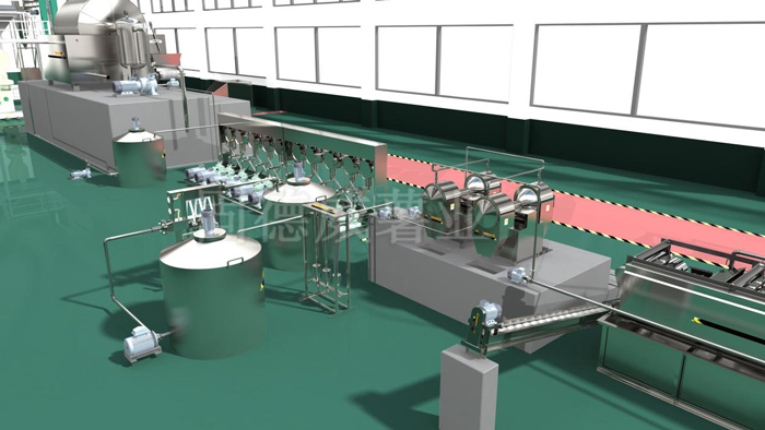 Automatic sweet potato starch production line